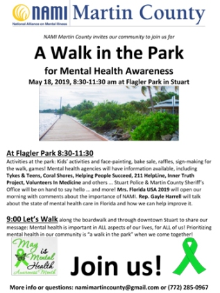 NAMI Martin County Walk in the Park 2019